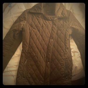 BCBGmaxazria green nylon quilted jacket coat M